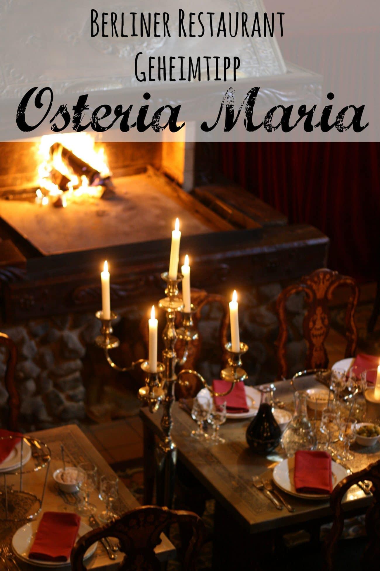 Osteria Maria Restaurant Geheimtipp Berlin Steglitz PASSENGER X