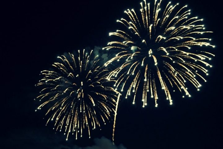 Feuerblumen: Feuerwerk zu klassischer Musik