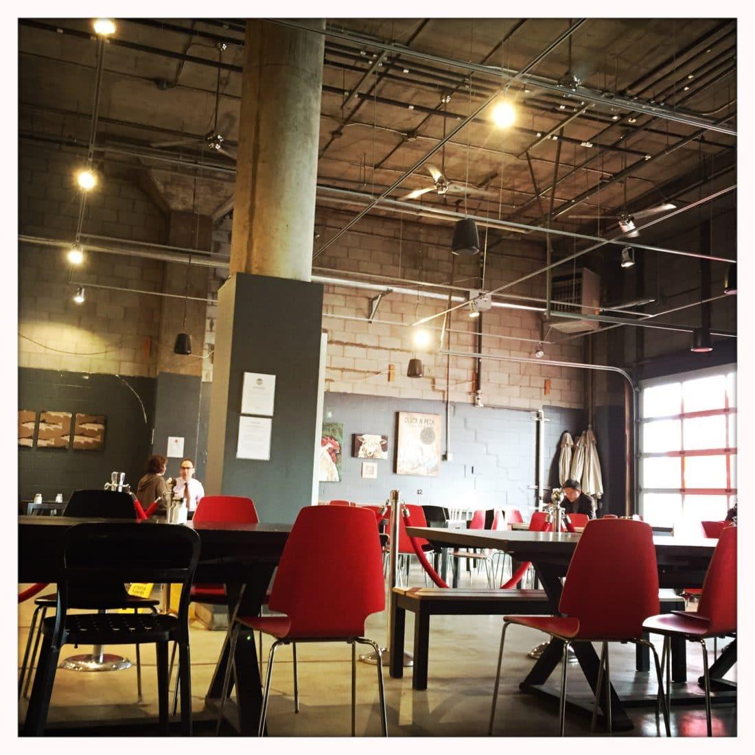 This is art bakery Ottawa interior