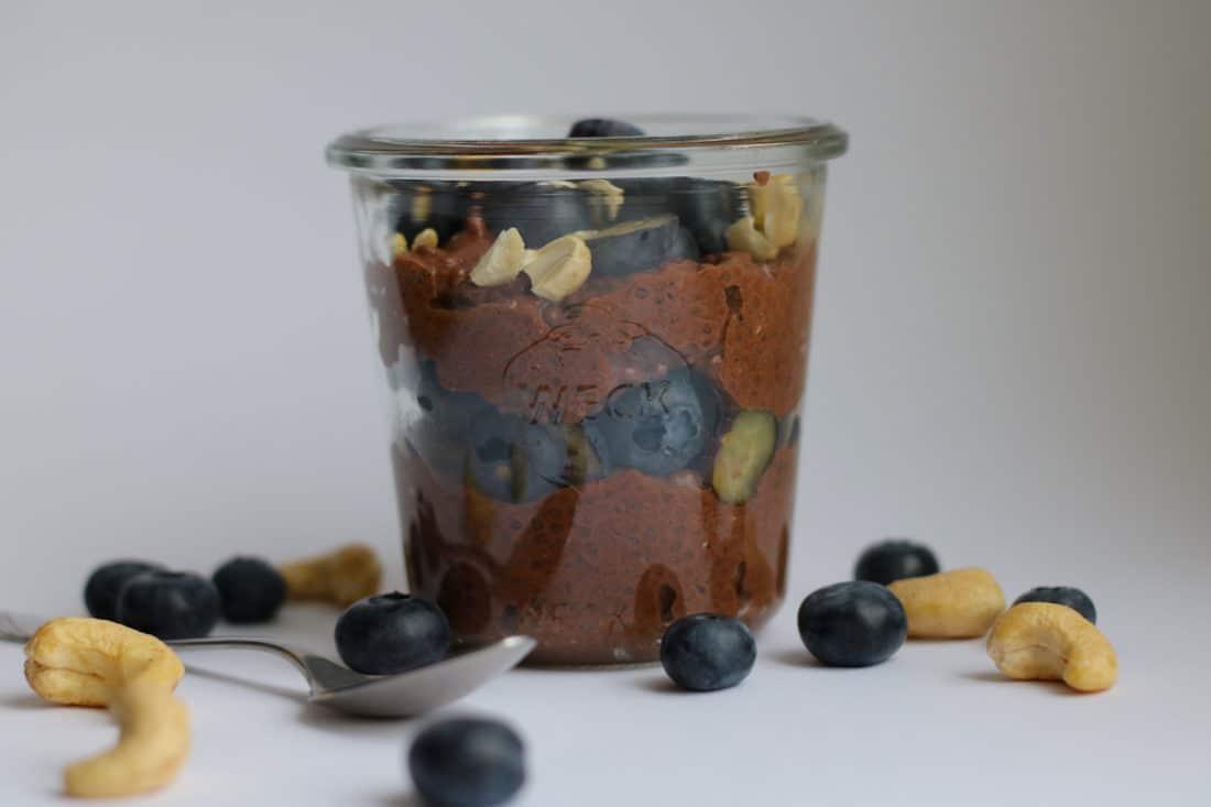 Chia Rezept - Chiapudding Schokoladenpudding vegan