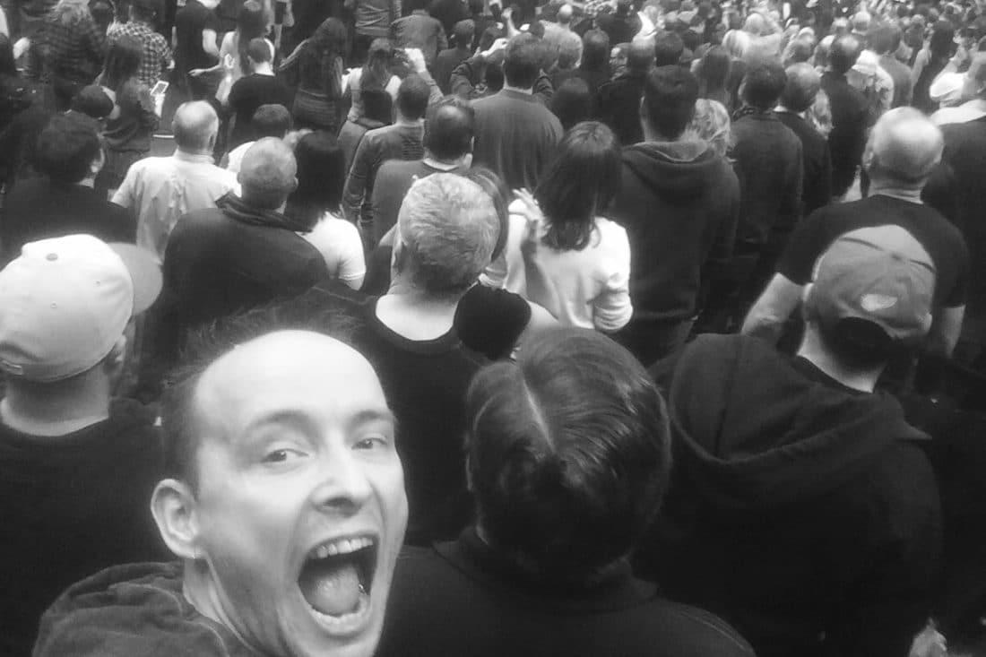 Björn Leffler beim Bruce Springsteen Konzert in Toronto