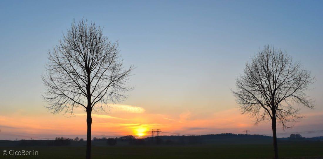 Sonnenuntergang Oekodorf Brodowin