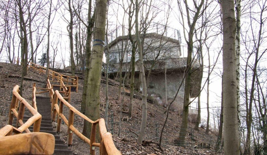 Berliner Aussichtspunkte Flakturm im Humboldthain