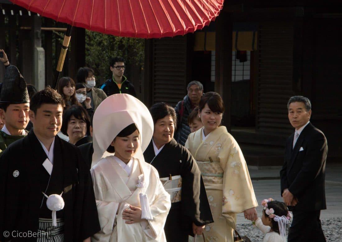 Hochzeit im Tempel Yoyogi Park