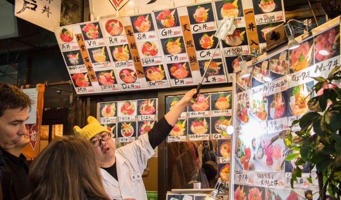 Thunfischauktion auf dem Fischmarkt in Tokio