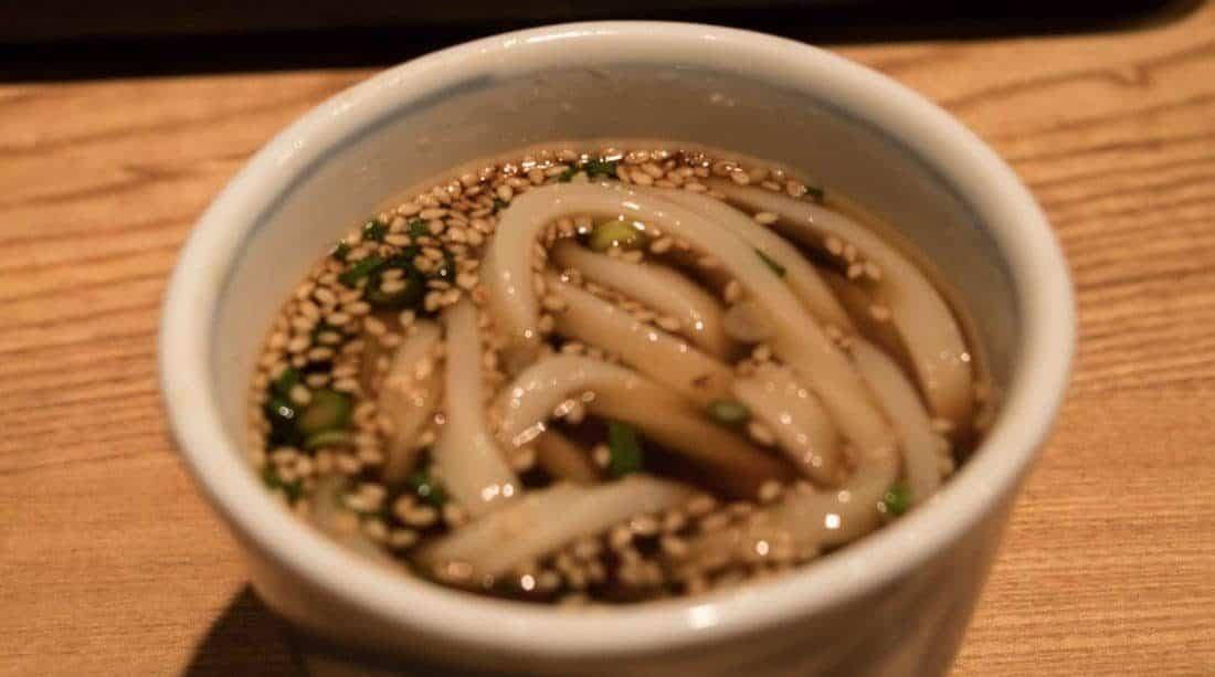 Essen in Tokio Udon Nudeln