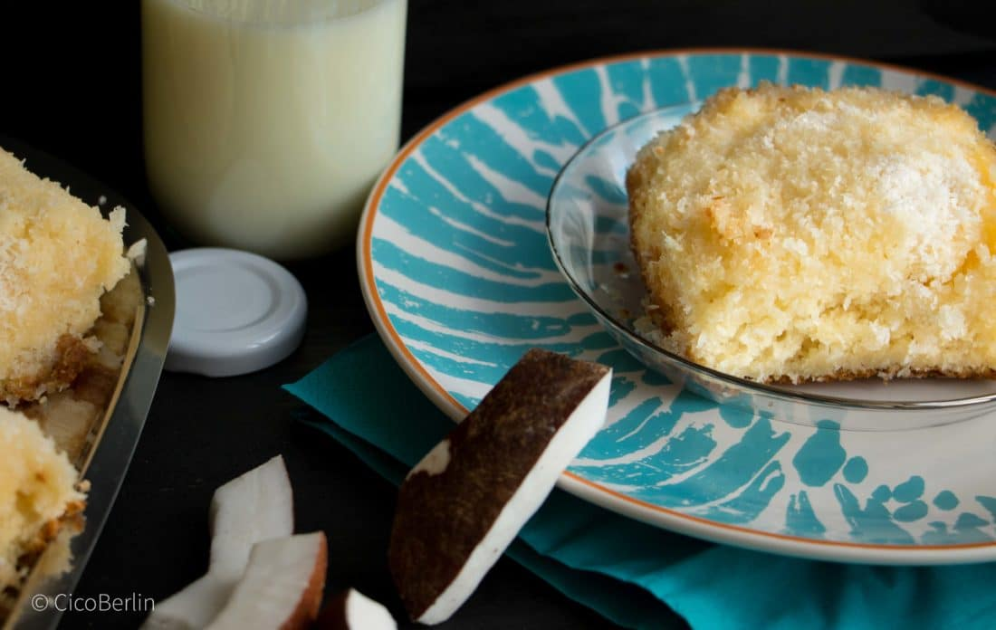 Schneller Buttermilchkuchen mit Kokos