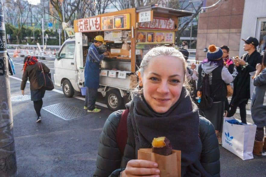 Essen in Tokio - Yakiimo, Süßkartoffel
