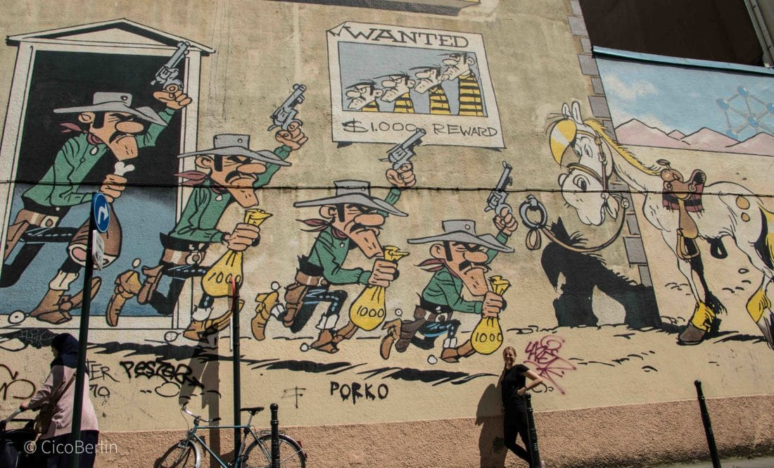 Tops und Flops Brüssel - der Comic Walk Brüssel Lucky Luke