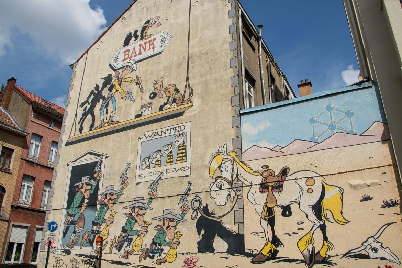 Empfehlungen für ein Wochenende in Brüssel von PASSENGER X - der Comic Walk Brüssel Lucky Luke