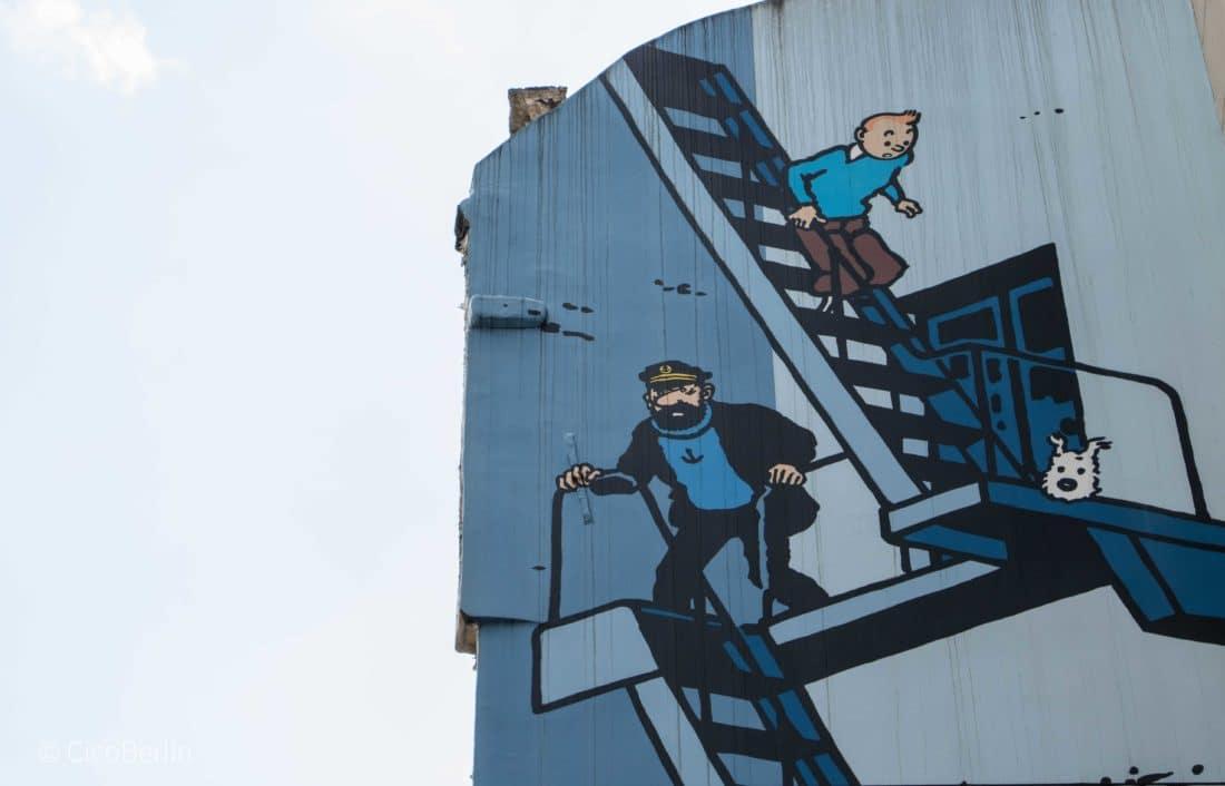 Tops und Flops Brüssel - der Comic Walk Brüssel Tim und Struppi