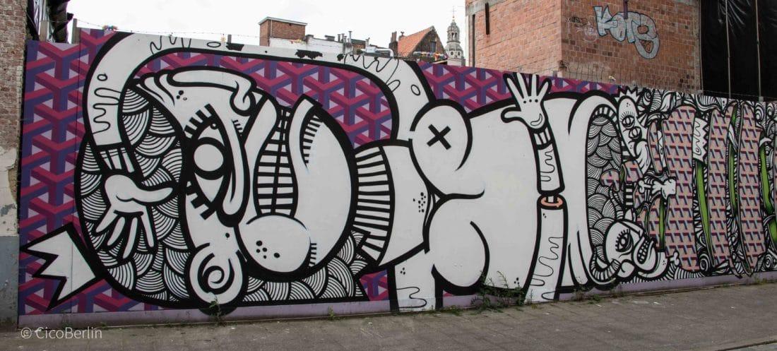 Ein Tag in Antwerpen - Streetart