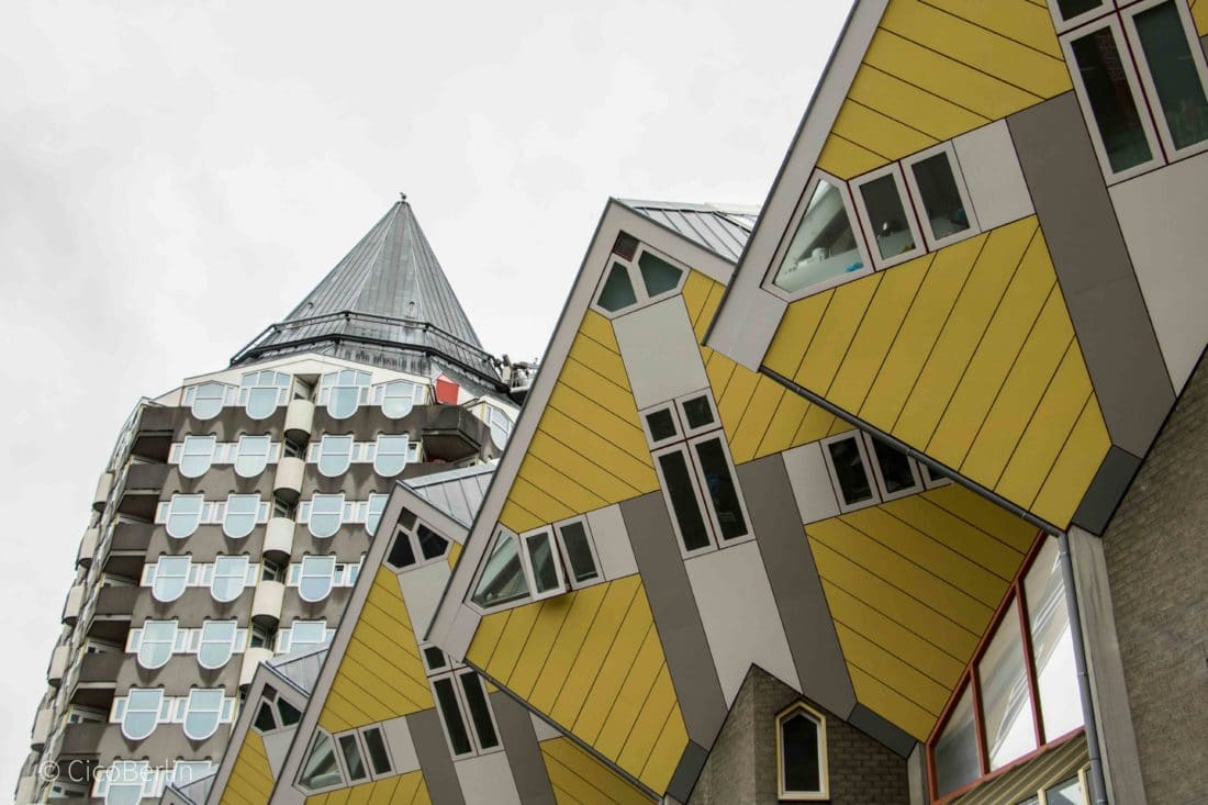 Netherland Belgium Tour, Ein Tag in Rotterdam - Kubushäuser