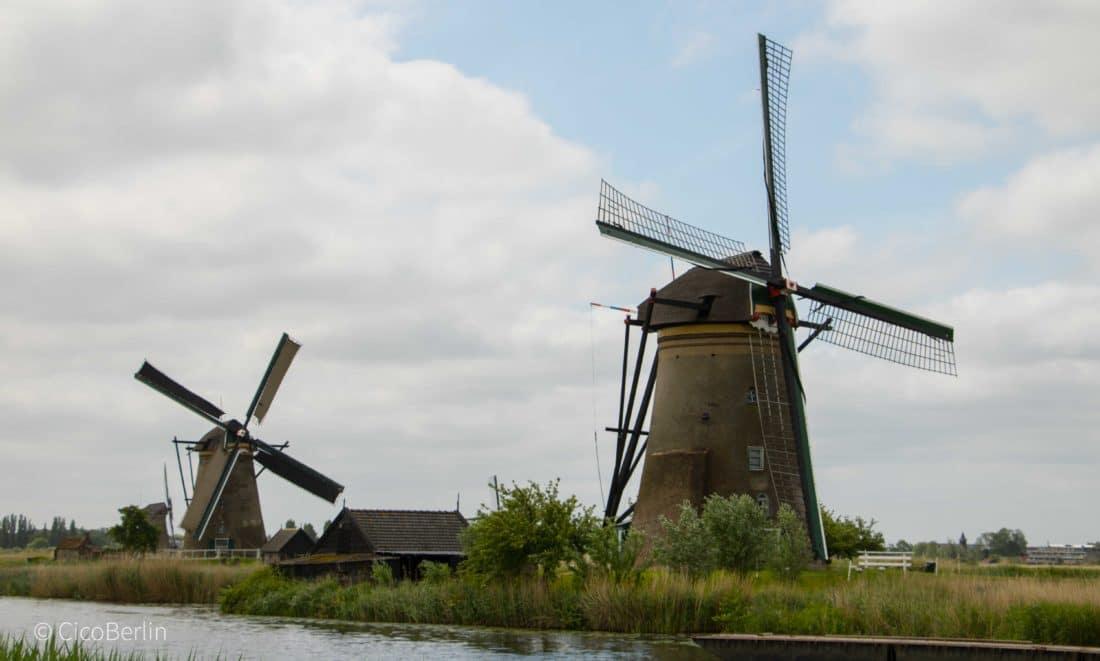 Meine Holland Belgien Rundreise/ Belgium Tour, ein Rotterdam - die Windmühlen in Kinderdijk