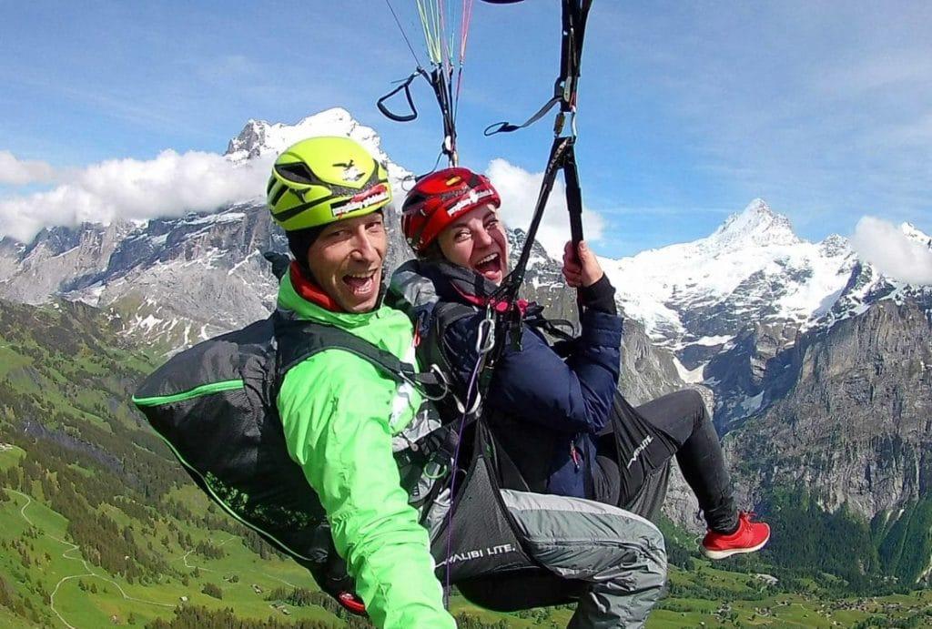 Gleitschirmfliegen in der Schweiz, Paragliding Switzerland