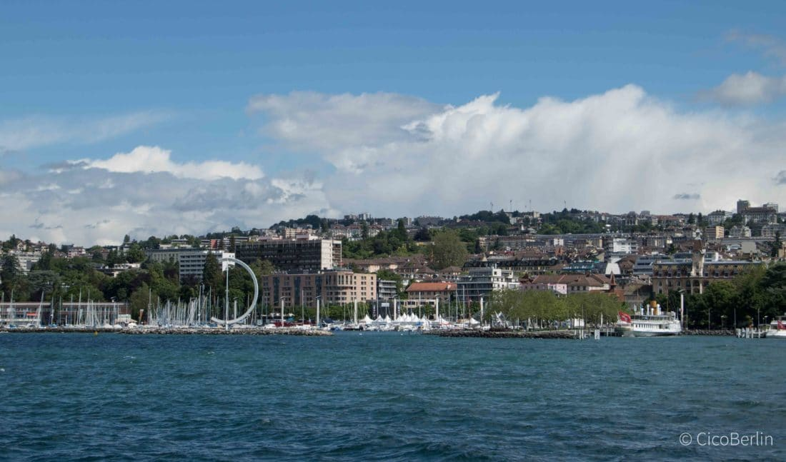 Lake Geneva, Stadt am Genfer See Lausanne