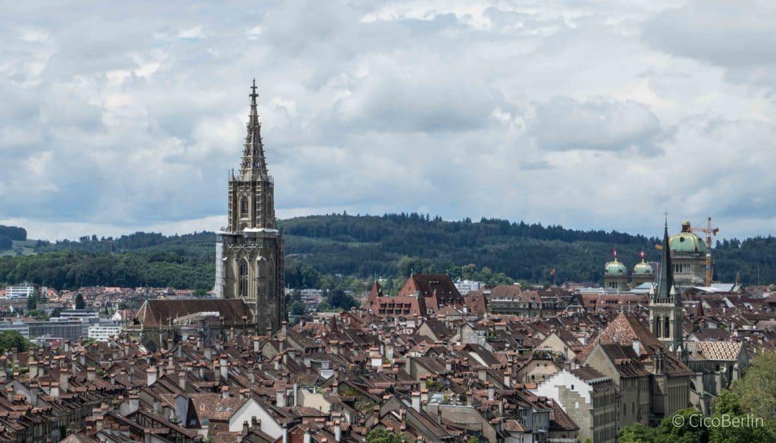 Top Sehenswürdigkeiten Bern, Ausblick vom Rosengarten