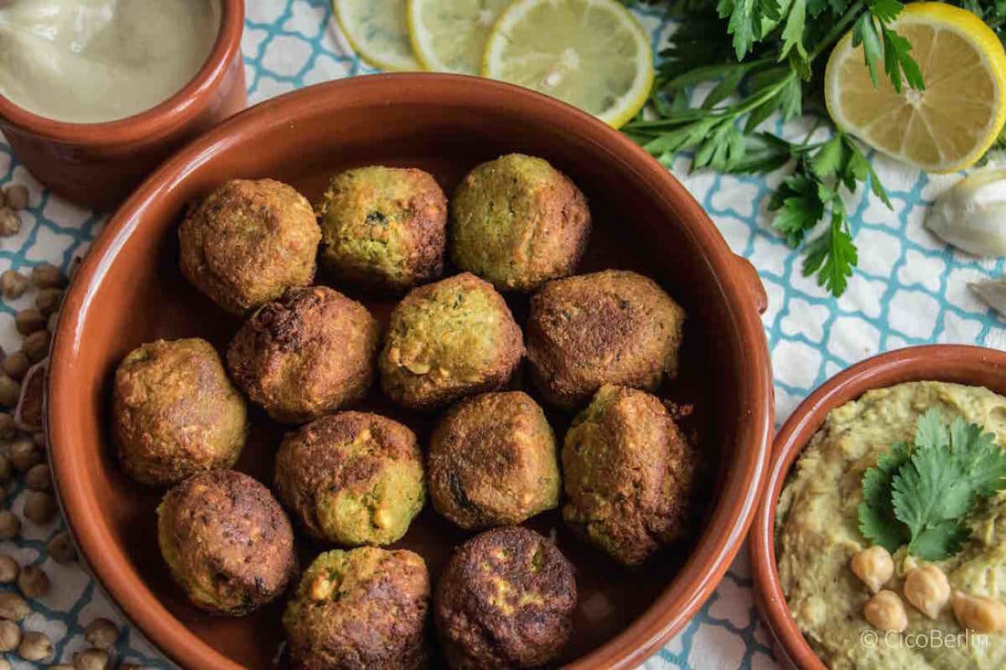 Falafel Rezept zum selber machen , authentic falafel recipe vegan