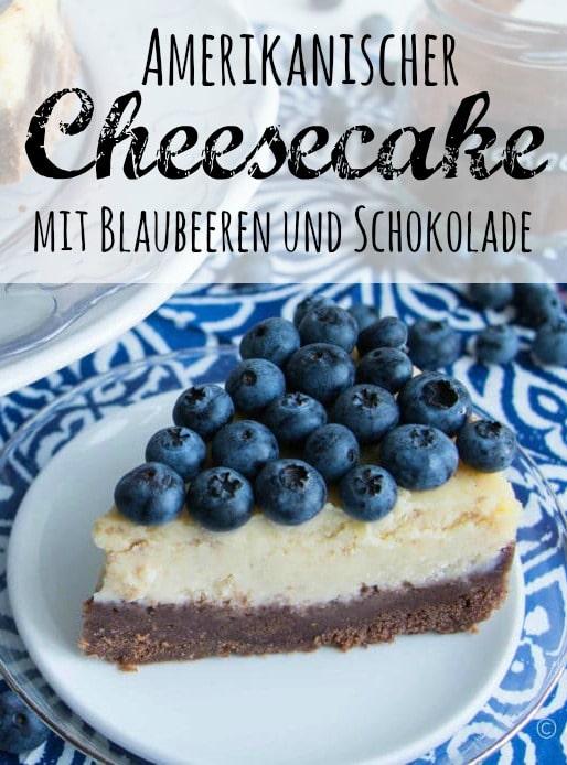 Amerikanischer Blaubeer Cheesecake