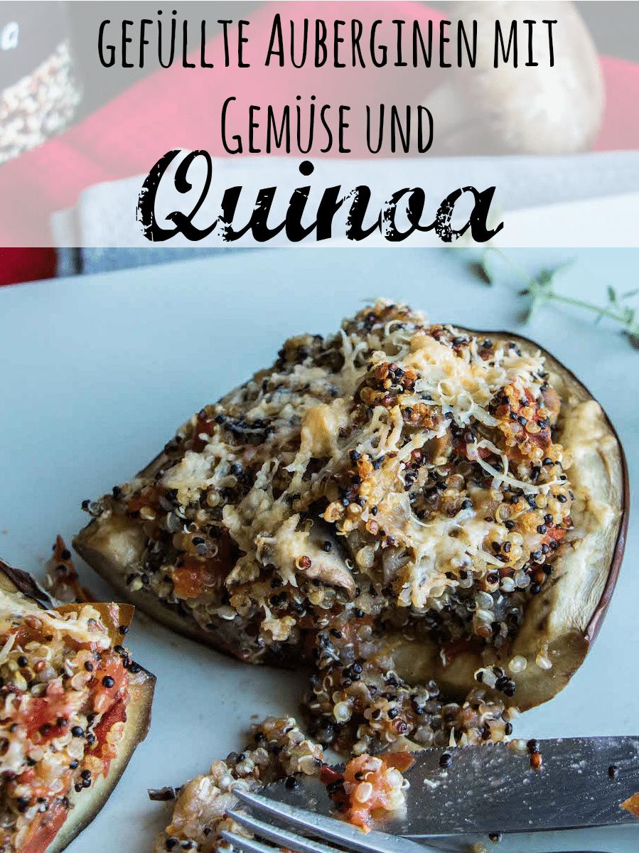Auberginen mit Quinoa und Gemuesefuellung
