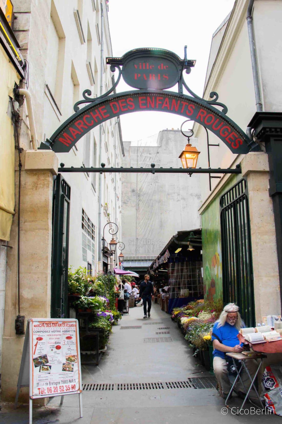 Städtereise Paris Tipps, Streetfood Markt, Marché des Enfants Rouges