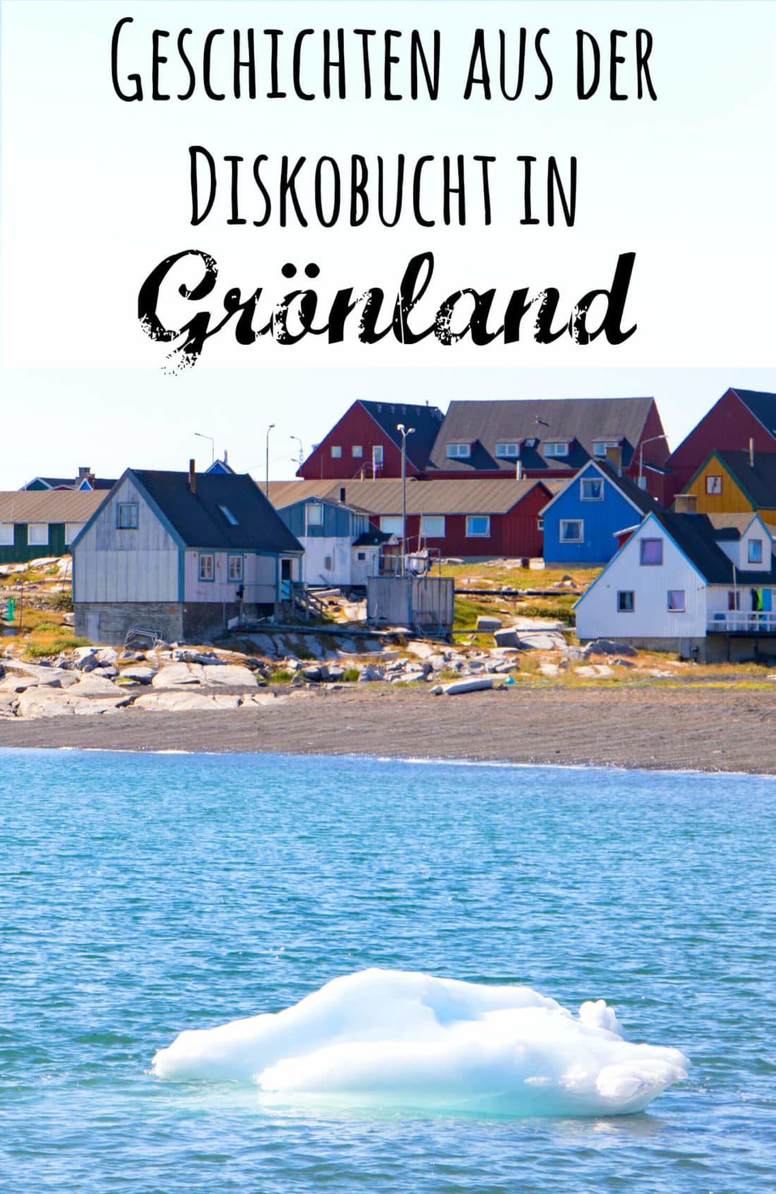 Blick aufs Meer auf der Diskoinsel in Grönland