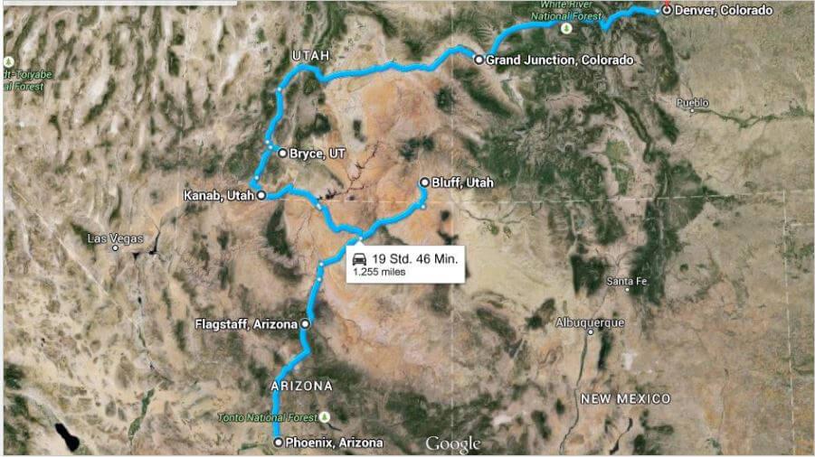 Road Trip durch die USA - Canyon Tour