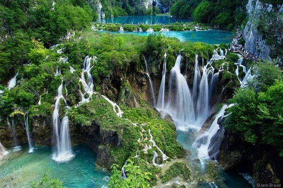 Kroatien, Wasserfall Plitvicka Jezera National Park