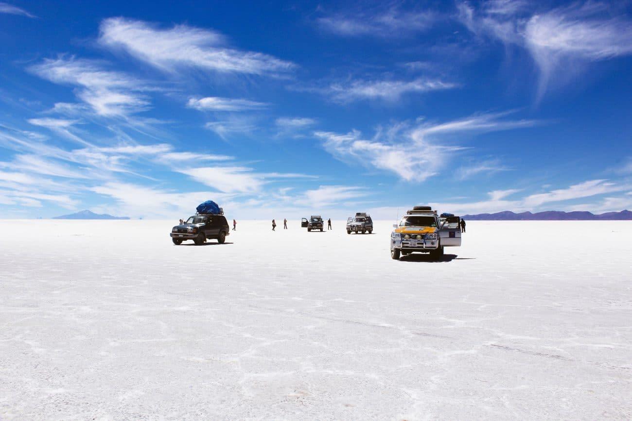 Kuendigen und Reisen _ Bolivien _ Salzwueste