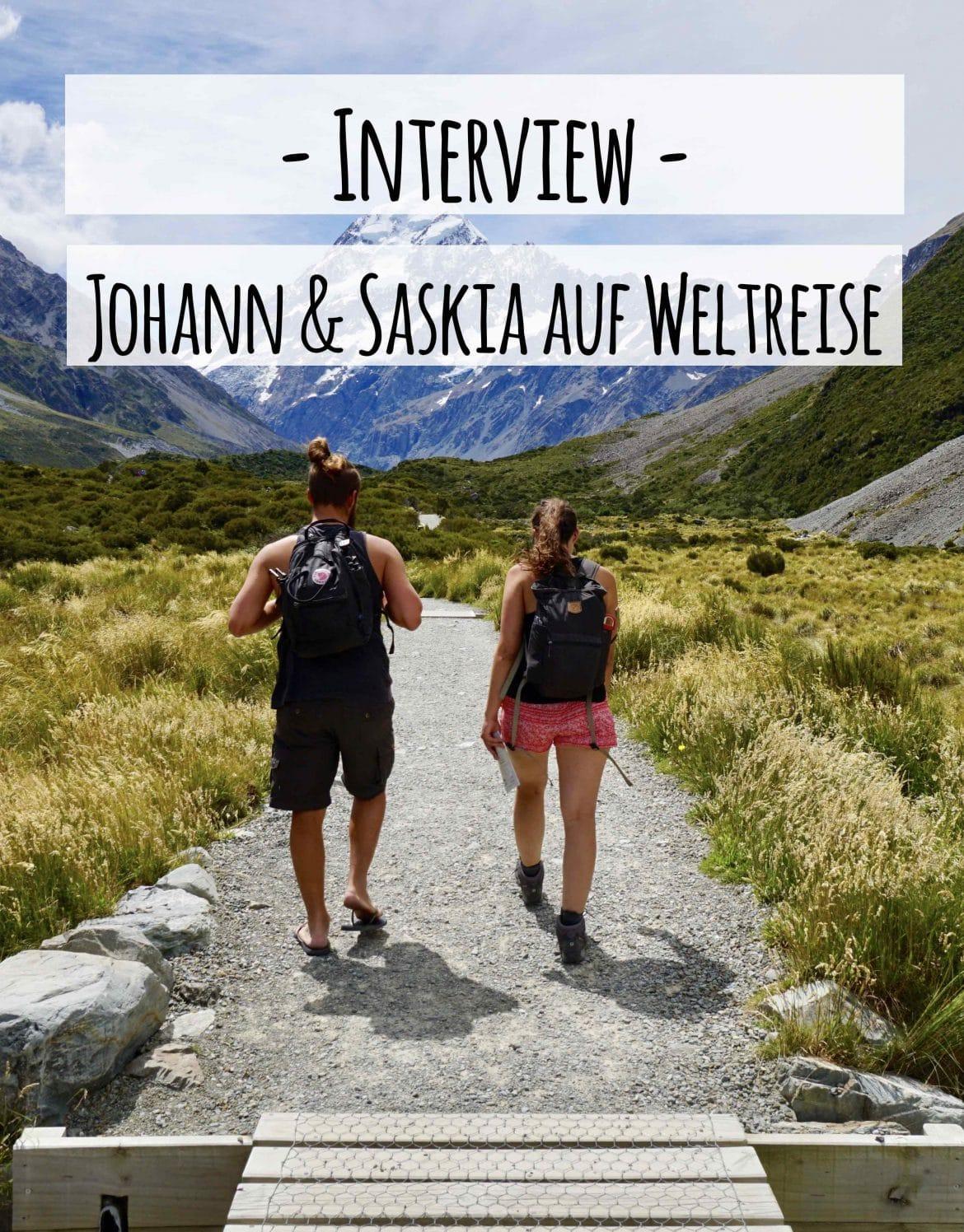 Weltreise Interview mit Johann uns Saskia auf PASSENGER X