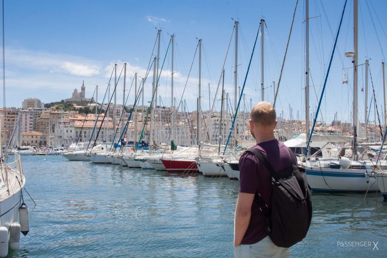 Im Hafen von Marseille. Die Endstation der Europa Autoreise von PASSENGER X.