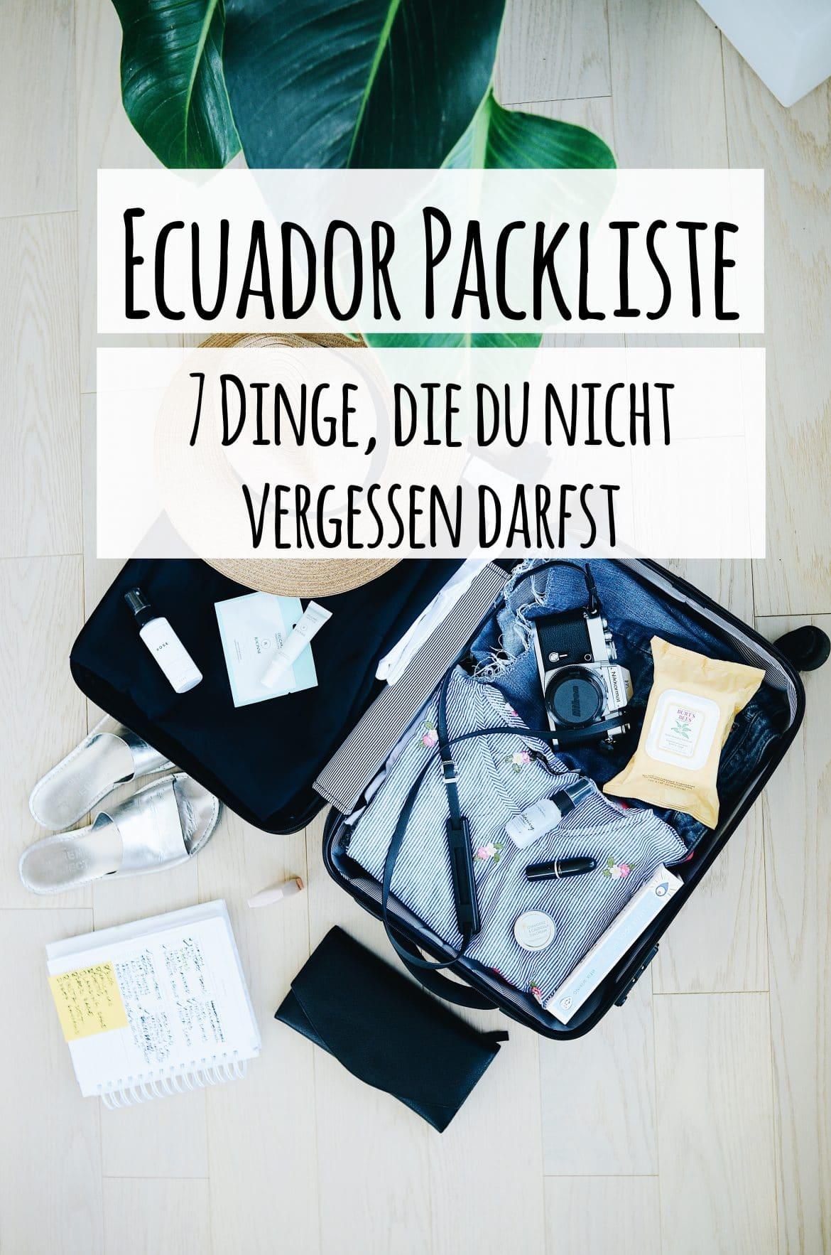 PASSENGER X verrät dir die perfekte Packliste für Ecuador. Mit dabei: 7 Dinge, die du auf keinen Fall vergessen darfst!