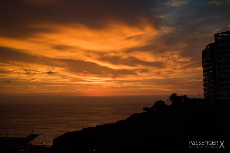 Eine Reise in 13 Fotos - PASSENGER X stellt ihre schönsten Erinnerungen aus Peru vor. - Sonnenuntergang in Lima / Sunset in Lima