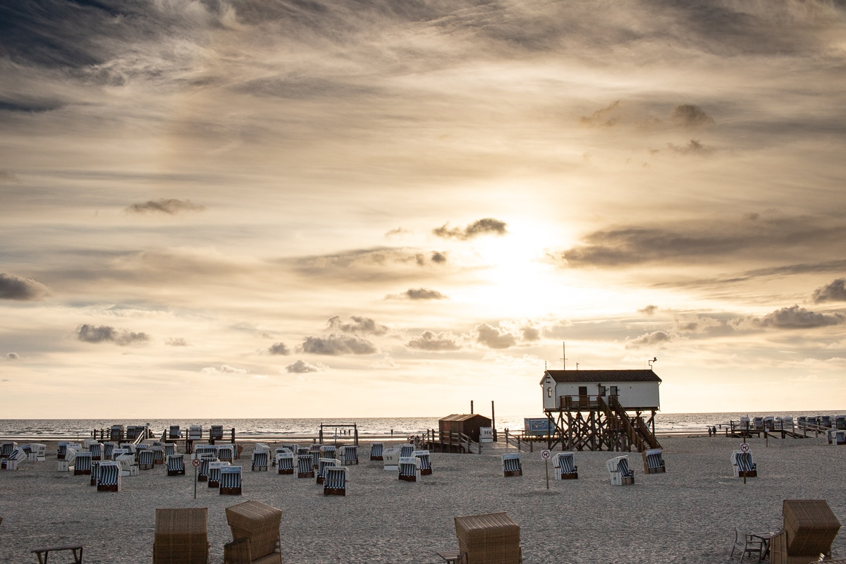 Tipps Sankt Peter Ording - Strand Sonnenuntergang