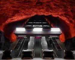 U-Bahn Kunst in Stockholm - Foto von felix mooneeram