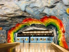 U-Bahn Kunst in Stockholm - Foto von norman tsui