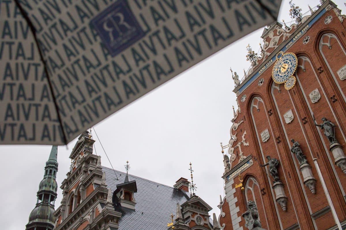 Regen in Riga