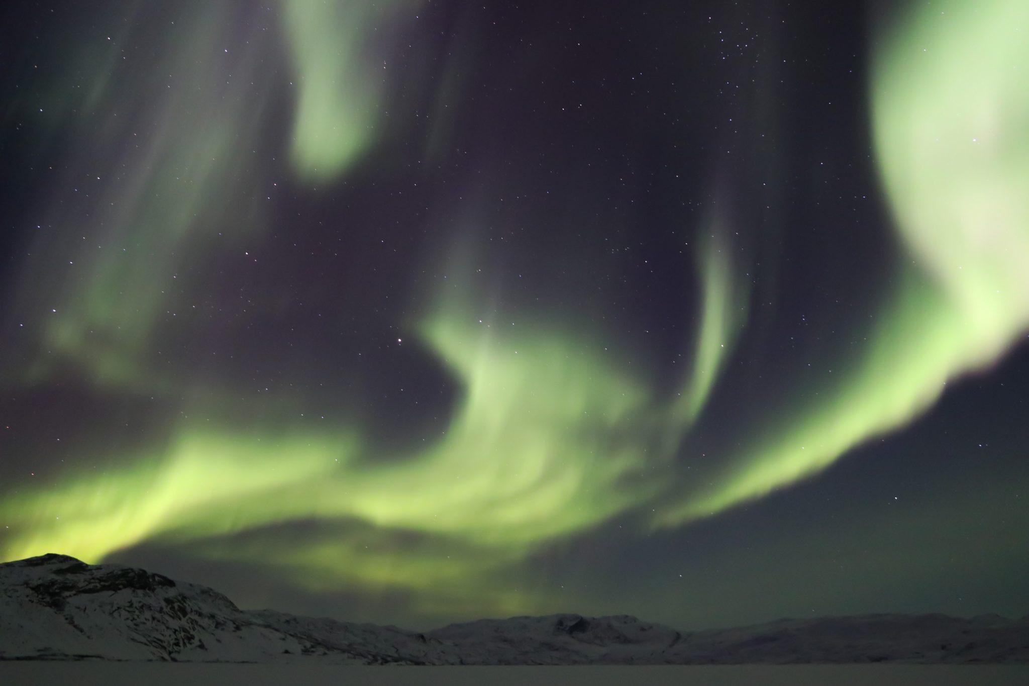 Nordlichter in Grönland - in Kangerlussuaq ist mein Traum wahr geworden. Foto: Ulrik Amdi