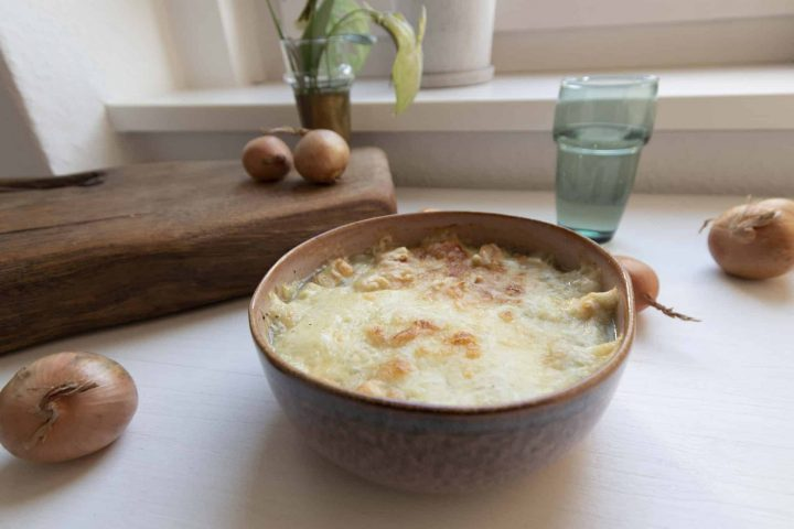 Schnelles Rezept für Französische Zwiebelsuppe