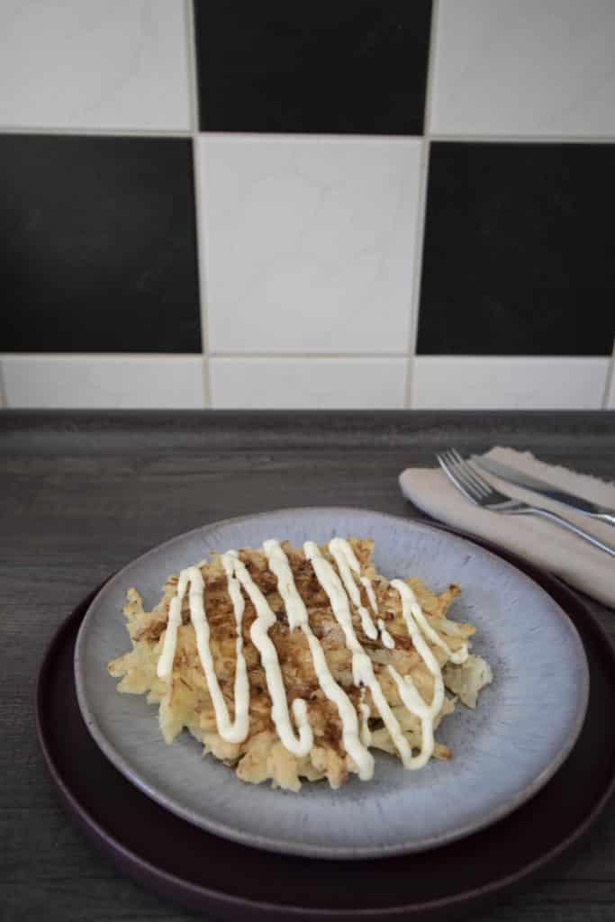 Rezeptvegetarische Okonomiyaki Osaka Style