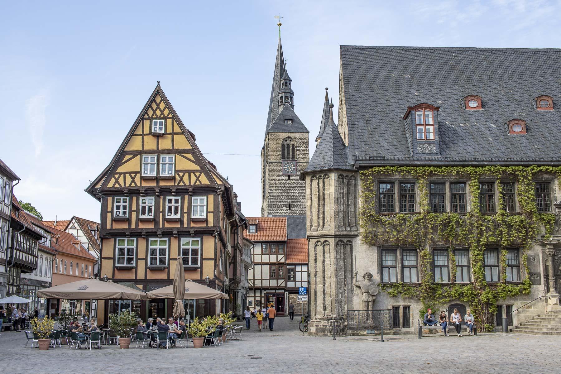 Sehenswürdigkeiten Harz - Welterbestadt Quedlinburg mit ihren Fachwerkhäusern