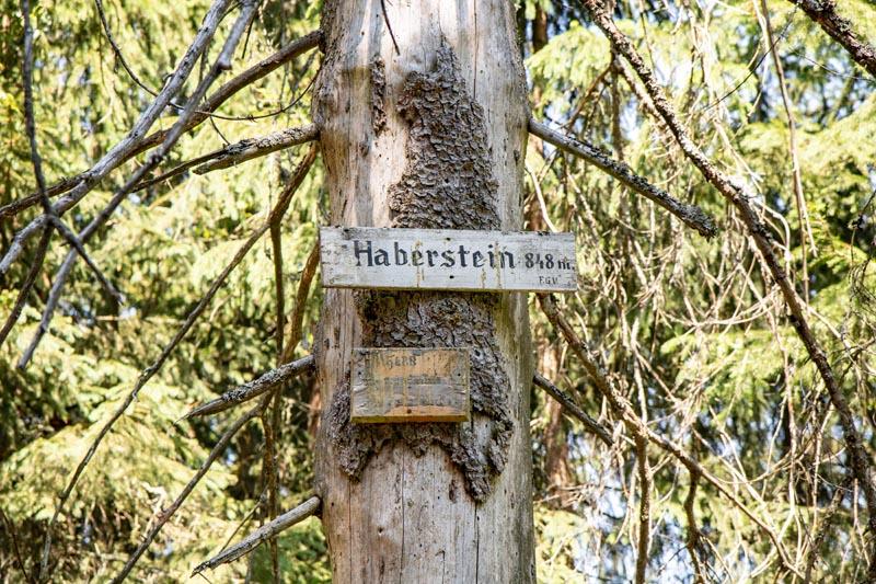 Fichtelgebirge wandern zum Haberstein