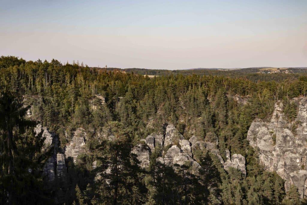 Wandern im Elbsandsteingebirge: unterwegs auf dem Malerweg - Bastei Schrammsteine
