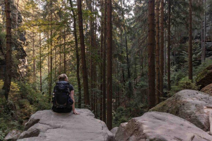 Wandern im Elbsandsteingebirge: unterwegs auf dem Malerweg (Sächsische Schweiz)