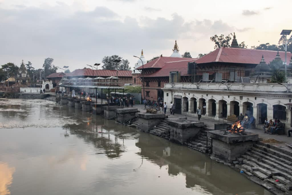 Pashupatinath Temple Kathmandu Verbrennungen