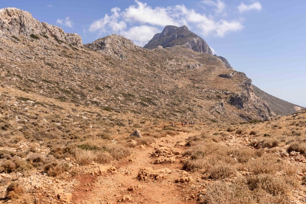Weg zum Balos Strand Kreta