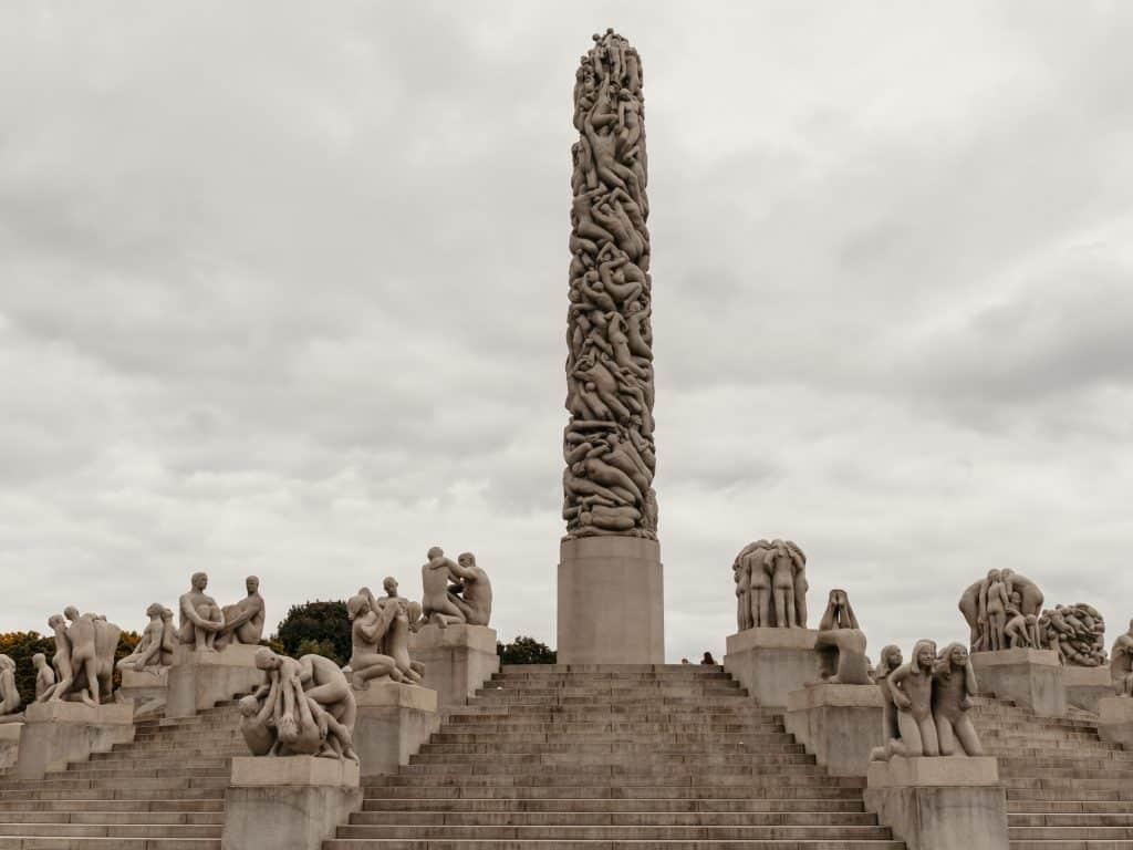 Der schönste Park Oslos Der Vigeland Skulpturenpark im Frognerpark
