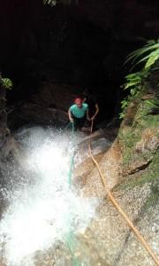 Sehenswürdigkeiten Ecuador Reise  Canyoning2