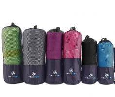 Schnelltrocknendes Reisehandtuch mit kleinem Packmaß